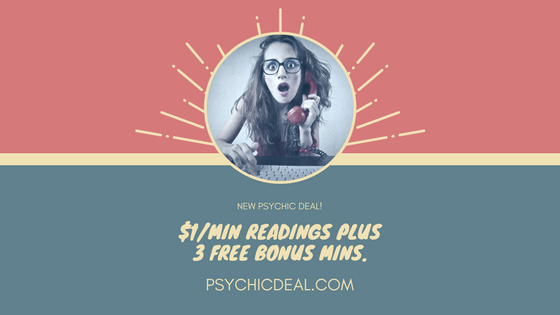 New Psychic Deal: Your first call just $1 per minute. Plus a Bonus 3 Free Minutes.